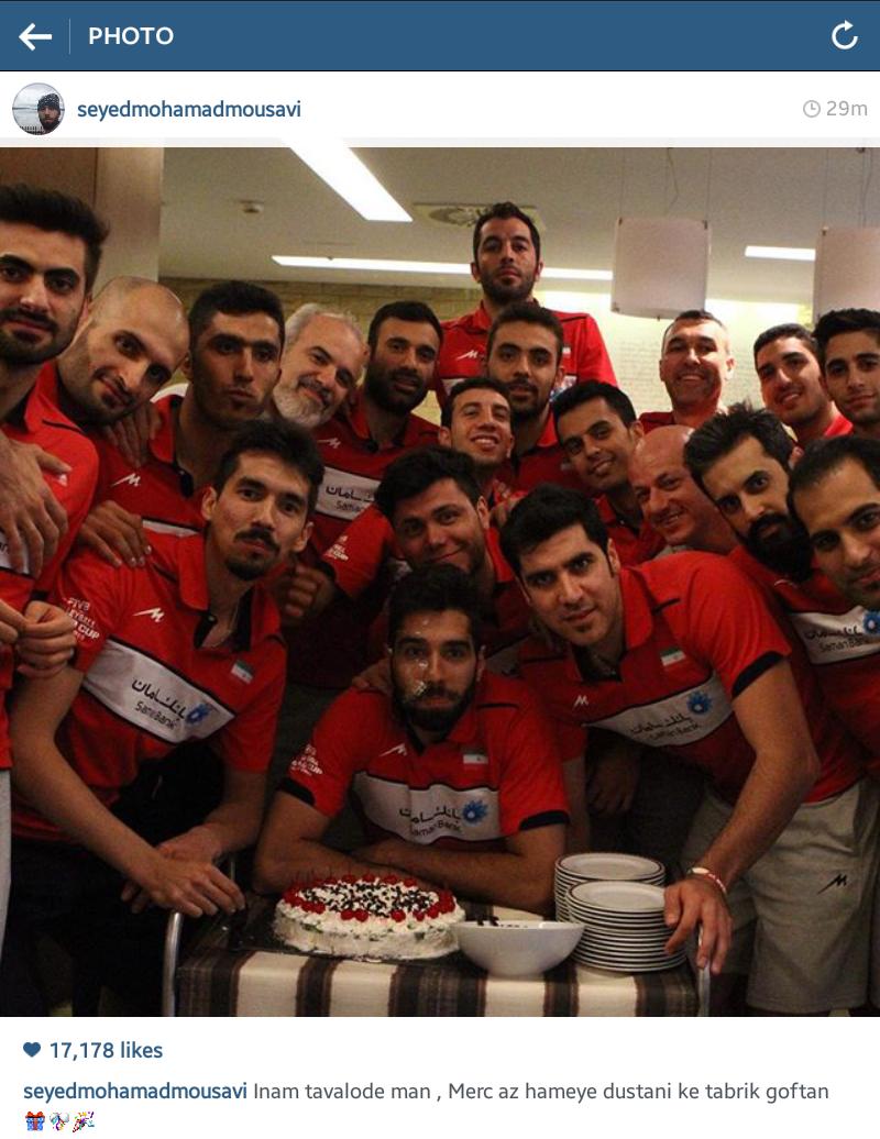 جشن تولد سید محمد موسوی در اردوی والیبال+ عکس