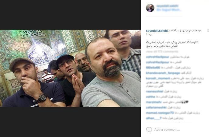 سلفی نقی معمولی و چند بازیگر در حرم امام رضا(ع) +عکس