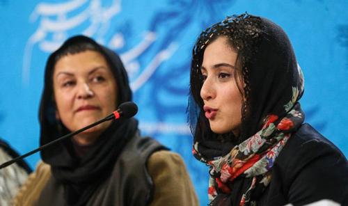 آناهیتا افشار در نشست خبری فیلم برف + تصاویر