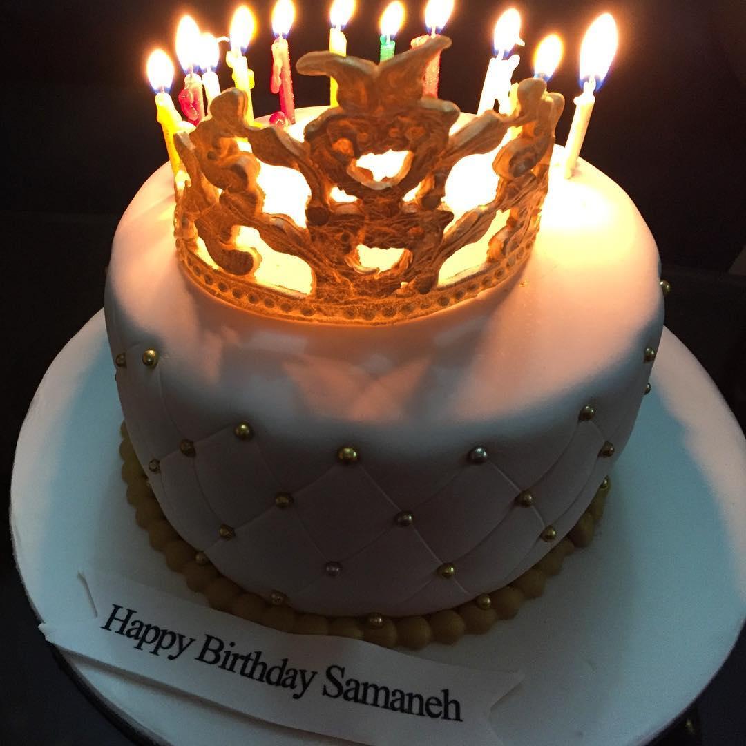 عکسی جالب از کیک تولد سلطنتی سمانه پاکدل