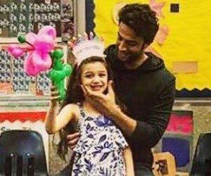 جشن تولد بنیامین بهادری در کنار دخترش بارانا