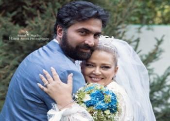 قایق سواری بهاره رهنما و همسرش ، امیرخسرو عباسی ، در تالاب شادگان