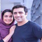 عکس الیکا عبدالرزاقی با برادرش مانلی و همسرش امین زندگانی