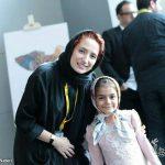 نگار جواهریان کنار دختر شهید مدافع حرم + عکس