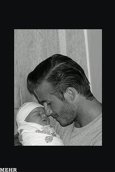 عکس:بکهام راز نام دخترش را فاش کرد