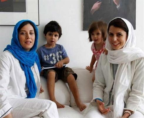 عکس:لیلا حاتمی و دو فرزندش در کنار مهتاب کرامتی مطلب
