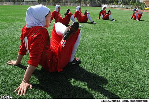 عکس:تصاویر ناب از تمرین تیم ملی فوتبال بانوان