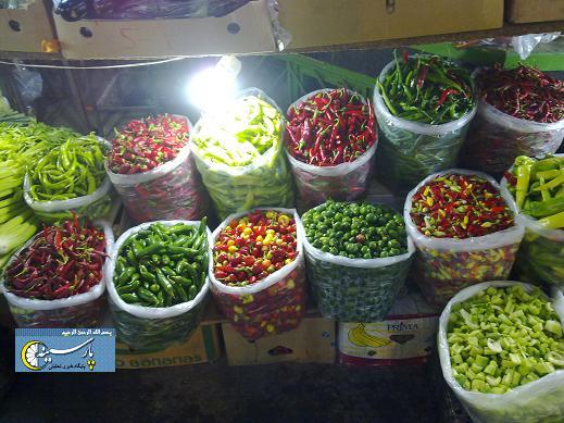 عکس:انواع فلفل در بازار تجریش