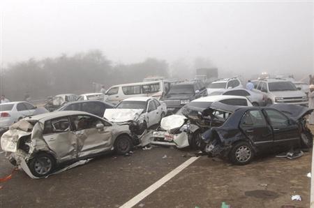 عکس:وقتی 200 خودرو با هم برخورد میکنند
