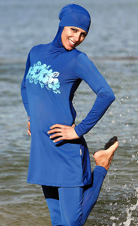 عکس هایی جالب از مدل لباس شنا برای خانم های مسلمان