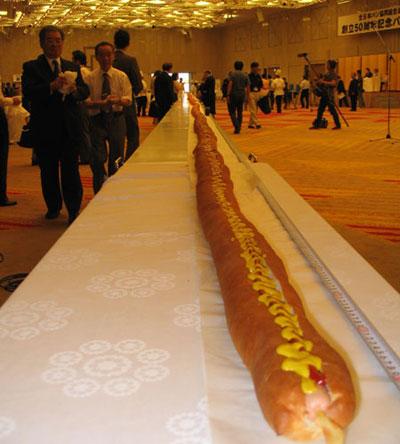 عکس:بزرگترین هات داگ دنیا طول 60 متر