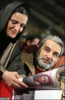 عکس و گفتگو با گلاب آدینه و همسرش