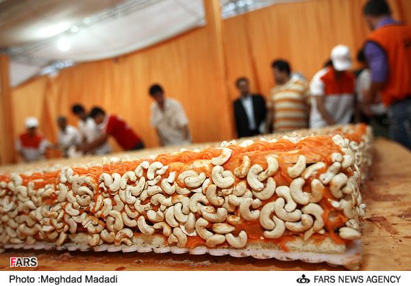 عکسهای دیدنی رونمایی از کیک نارنجی میلاد