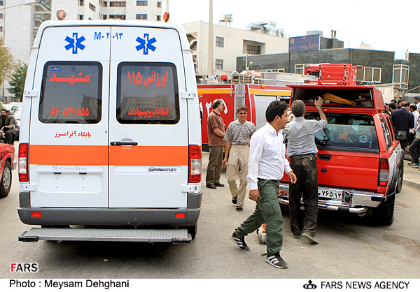 عکسهایی از ریزش آوار در مشهد