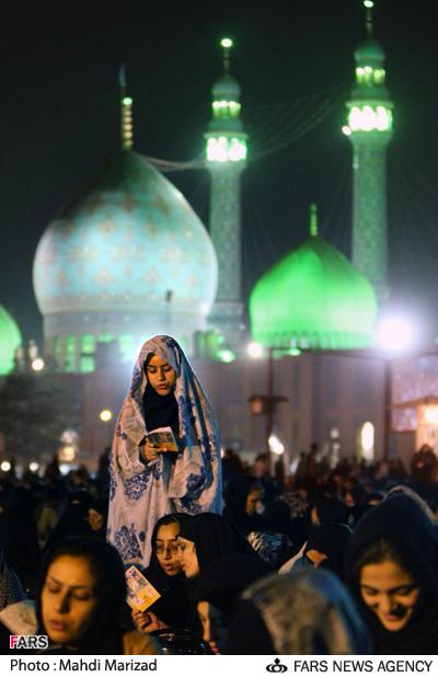 مراسم احیای شب بیست و یکم ماه رمضان در مسجد مقدس جمکران