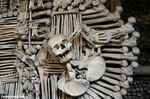 بازدید از کلیسای استخوان ( تصویری )