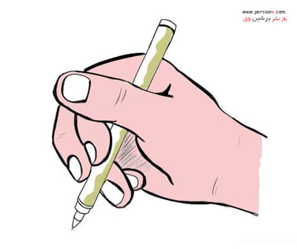نحوه گرفتن قلم در دست