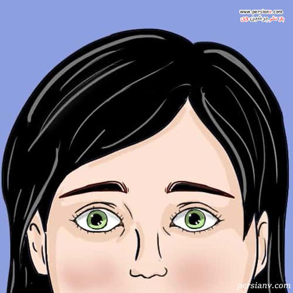 چشم ها با مردمک گشاد