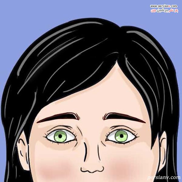 چشم ها با مردمک تنگ