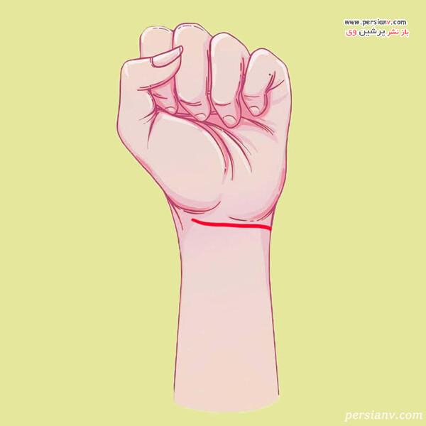خطوط روی مچ دست