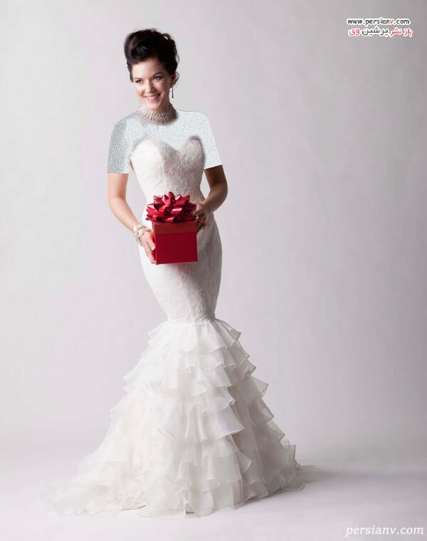 لباس عروس مدل دامن ماهی