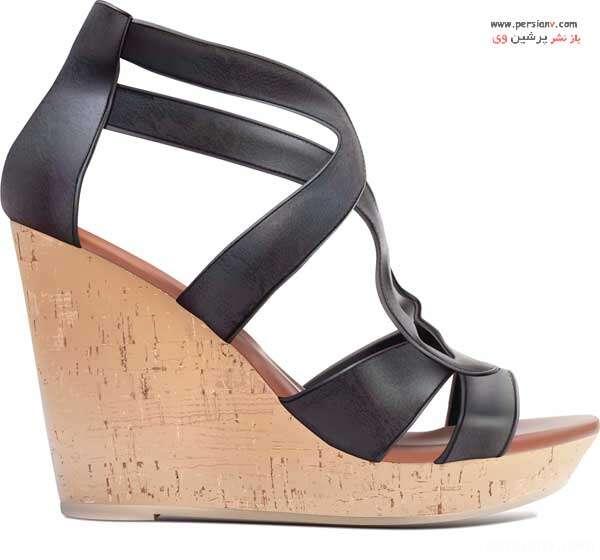 کفش پاشنه لژدار
