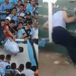 درگذشت هوادار فوتبالی که از طبقه دوم ورزشگاه سقوط کرد +عکس
