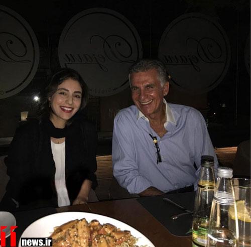 شام دو نفره خانم بازیگر با کارلوس کی روش