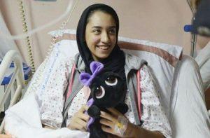 وزیر ورزش بر بالین کیمیا علیزاده در بیمارستان