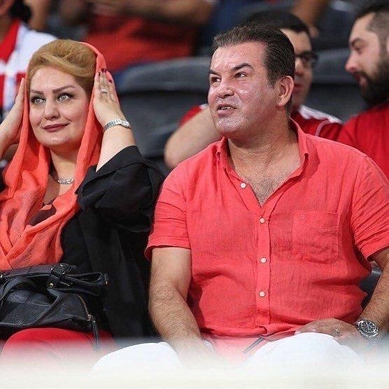 حمید استیلی و همسرش در امارات