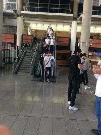 تیم ملی فوتبال کشورمان دقایقی پیش وارد ایران شدند