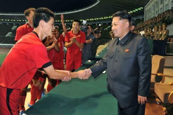 کیم جونگ اون طرفدار فوتبال