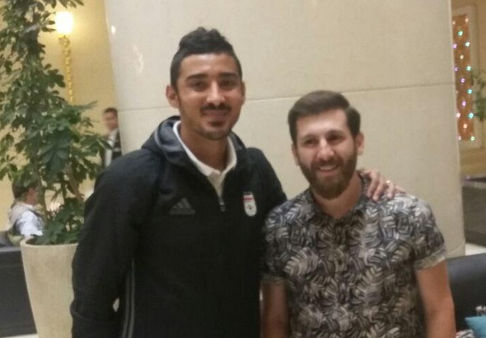 دیدار مسی ایرانی و فوتبالیست ها