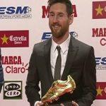 مسی، برنده کفش طلای سال ۲۰۱۷ شد
