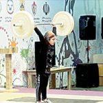 آیسن ادیب دختر اردبیلی در مسابقههای مردان وزنه زد!