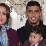 علی علیپور، مهاجم پرسپولیس و همسرش با لباسی عجیب و جالب!!