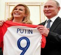 واکنش ها به چتر پوتین در مراسم اهدای مدال جام جهانی ۲۰۱۸!