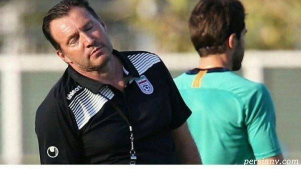 ویلموتس در تمرین تیم ملی