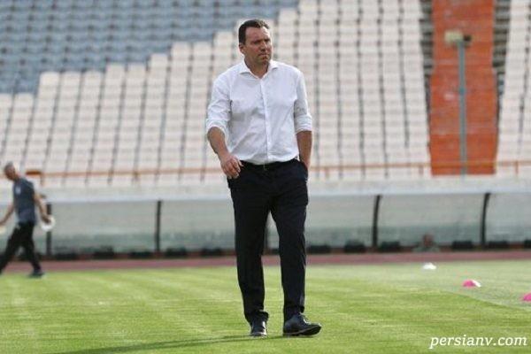 چرت زدن ویلموتس در تمرین تیم ملی فوتبال ایران