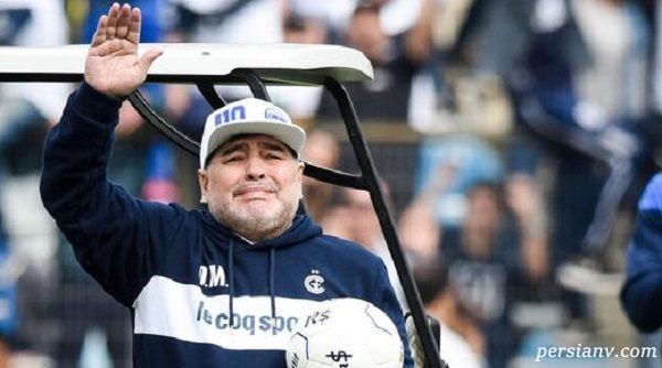 حرکت عجیب دیگو مارادونا کنار زمین بازی سوژه عکاسان شد