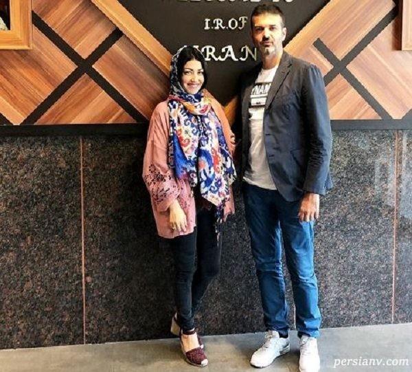 عکس آندره آ استراماچونی و همسرش در شیراز زیبا