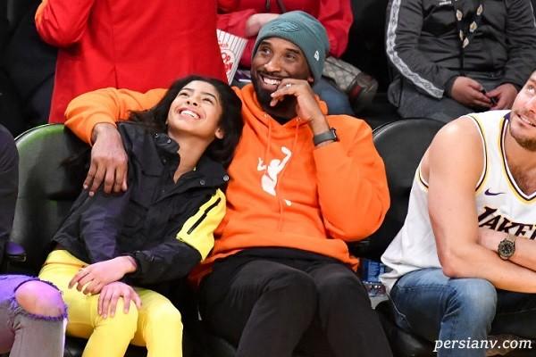 کوبی برایانت بسکتبالیست مشهور آمریکایی و دخترش