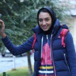 کیمیا علیزاده ورزشکار در مراسم یادبود جان باختگان هواپیما در هلند