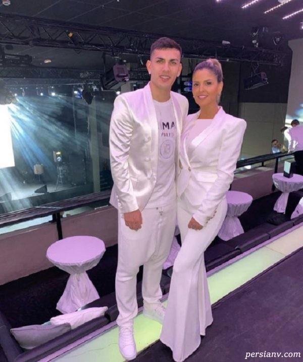 لئاندرو پاردس و همسرش
