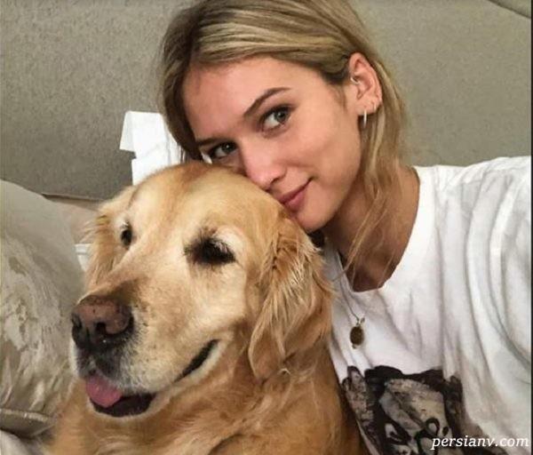 آنا مودلر و یکی از سگ های الکسیس سانچز