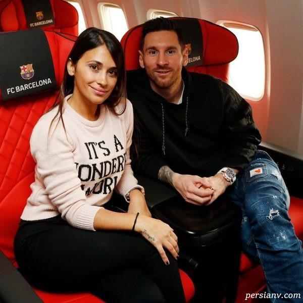 لیونل مسی و همسرس آنتونلا