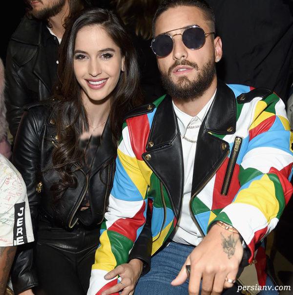 ناتالیا بارولیچ و نامزد سابقش مالوما خواننده 26 ساله کلمبیایی