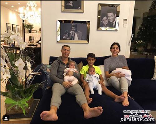 کریس رونالدو و بچه هایش