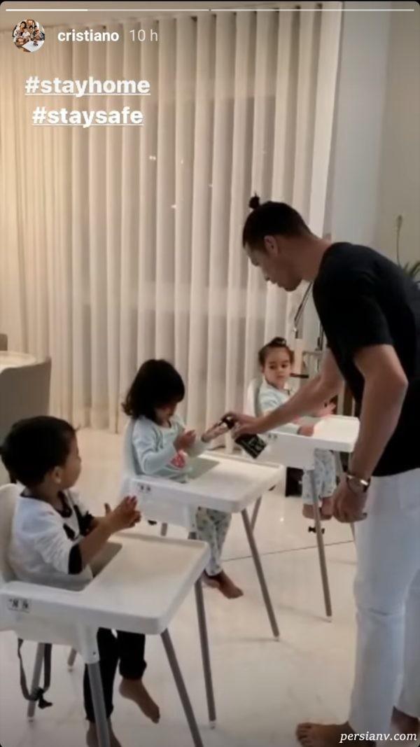 آموزش شستن دست به کودکان توسط کریس رونالدو