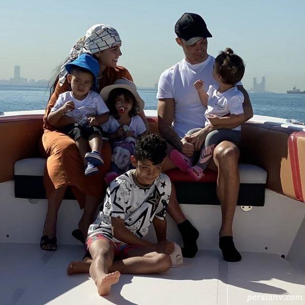 خانواده کریس رونالدو در سفر به دوبی
